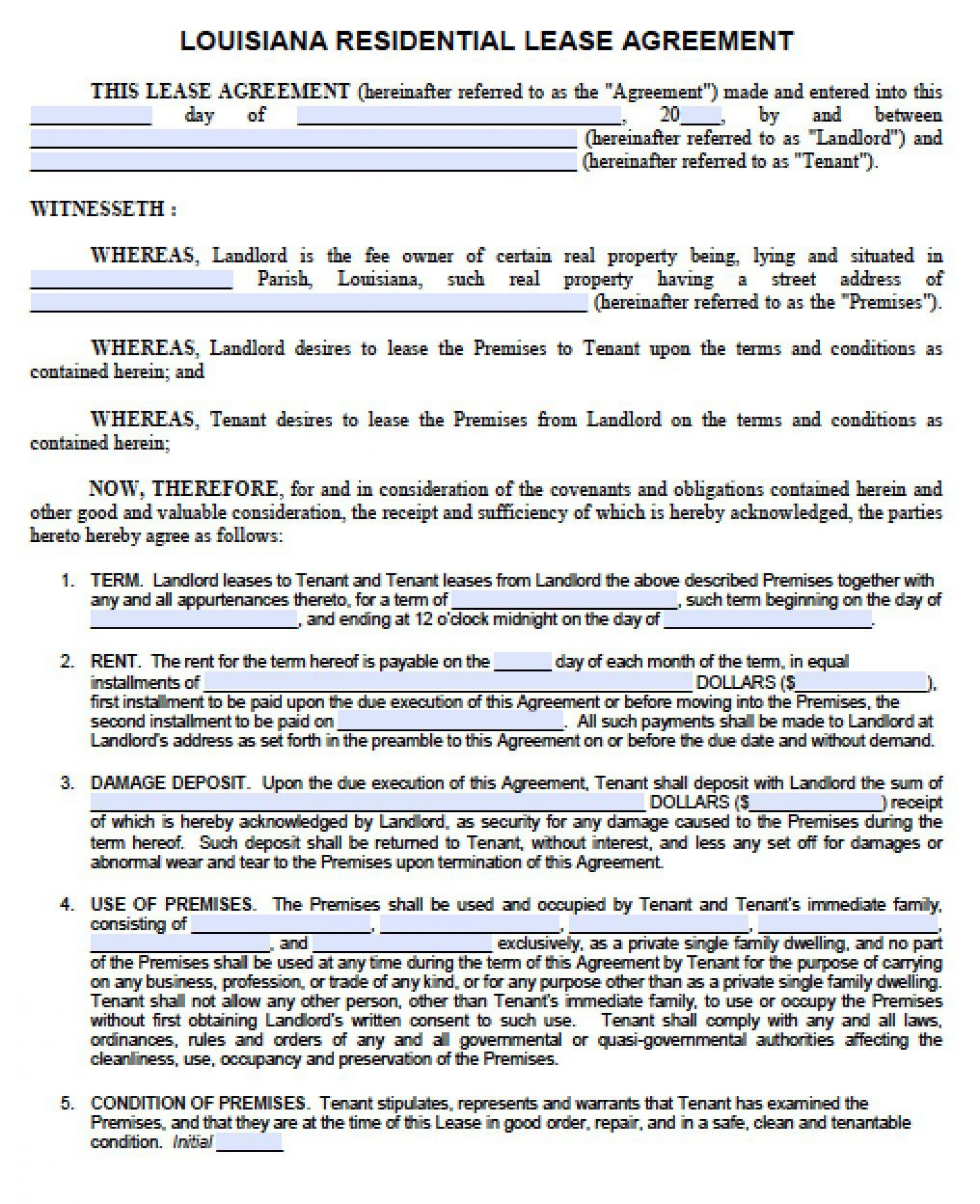 005 Shocking Rent Lease Template Free High Resolution  Room Rental Agreement Form Residential Pdf Download1920