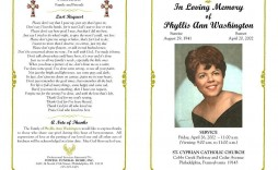 005 Shocking Sample Template For Funeral Program Picture