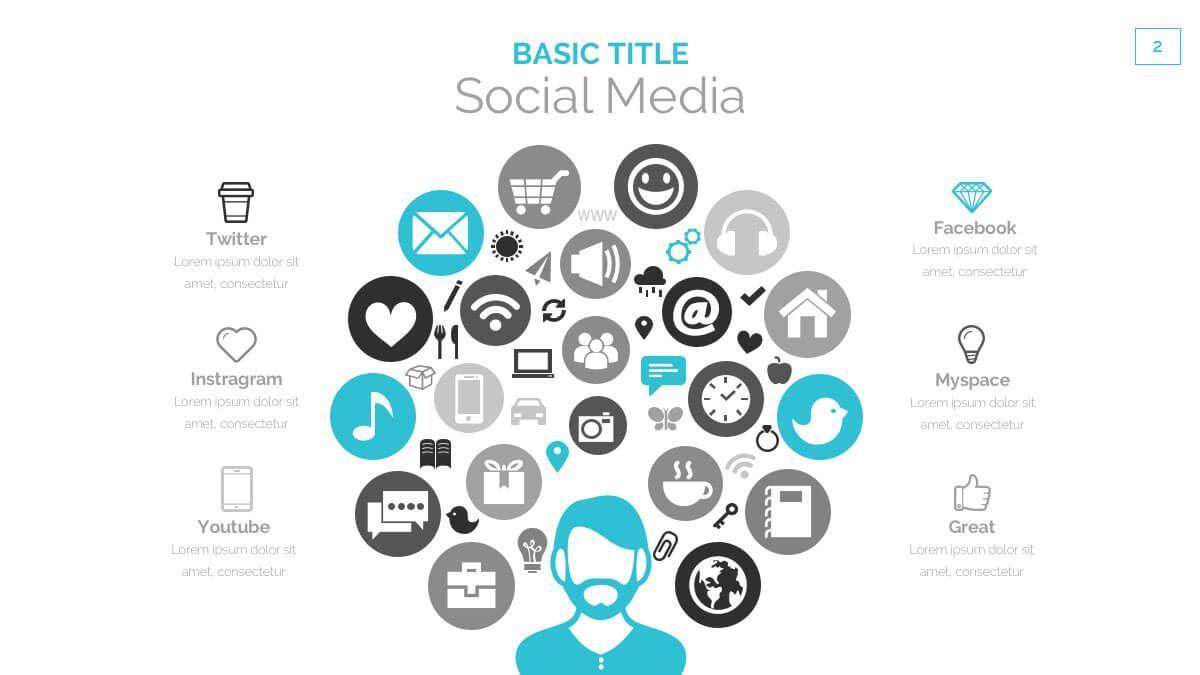 005 Shocking Social Media Powerpoint Template Sample  Templates Report Free Social-media-marketing-powerpoint-templateFull