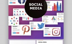 005 Shocking Social Media Strategy Powerpoint Template Image  Marketing Plan Free