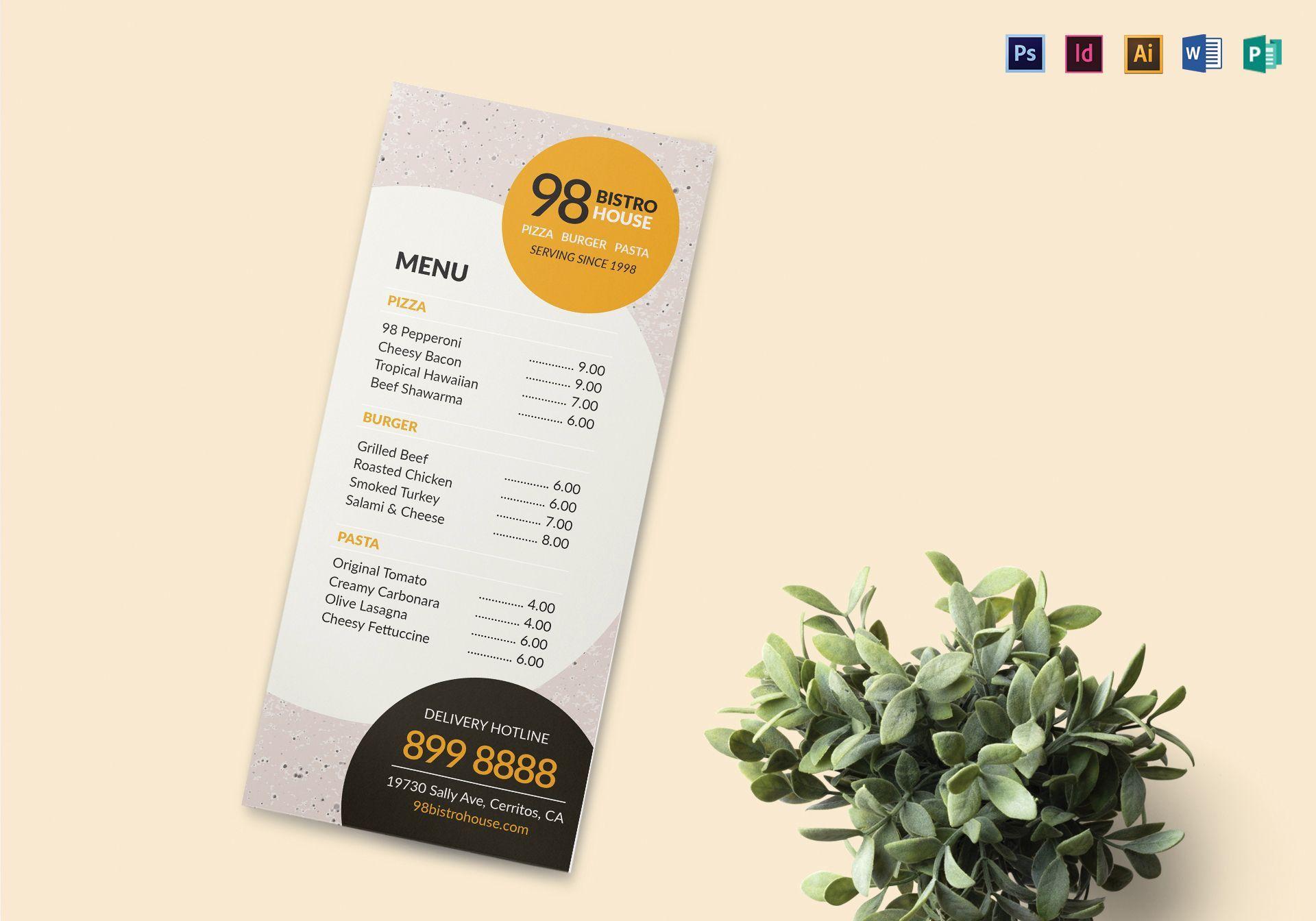 005 Shocking Take Out Menu Template Photo  Tri Fold Free Word Restaurant AwayFull