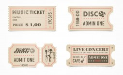 005 Shocking Vintage Concert Ticket Template Free Download Inspiration