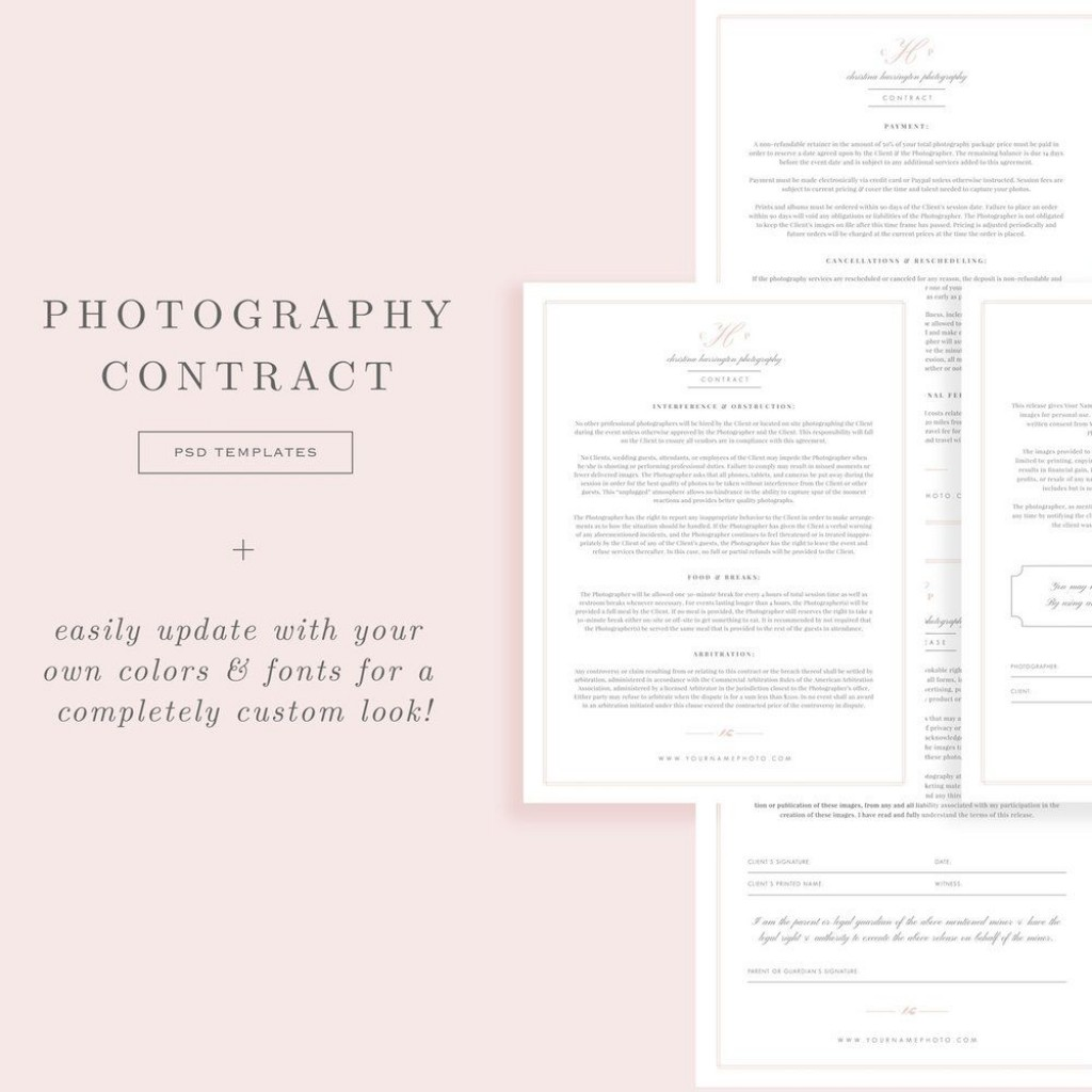 005 Shocking Wedding Photography Contract Template Canada Image Large