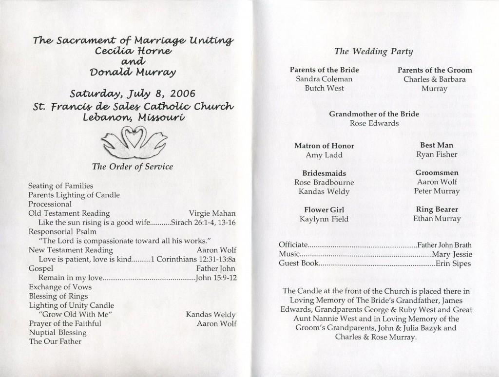005 Shocking Wedding Reception Program Template Sample  Templates Layout Free Download Ceremony AndLarge