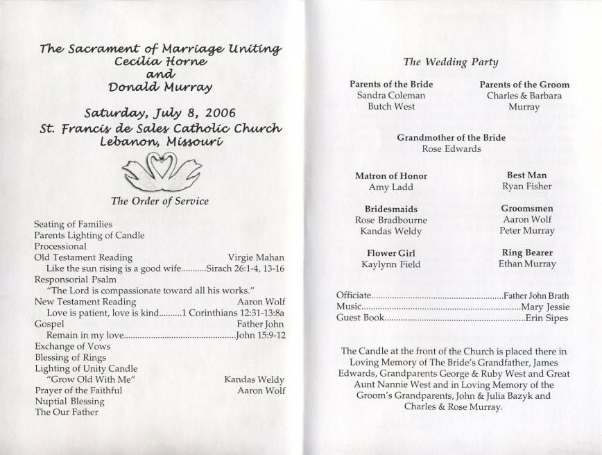 005 Shocking Wedding Reception Program Template Sample  Templates South Africa