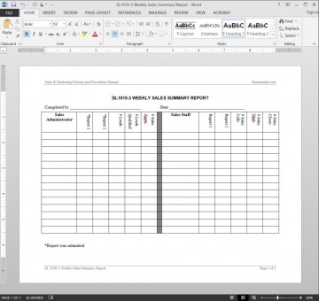 005 Shocking Weekly Sale Report Template Highest Clarity  Free Download Call Example Xl360
