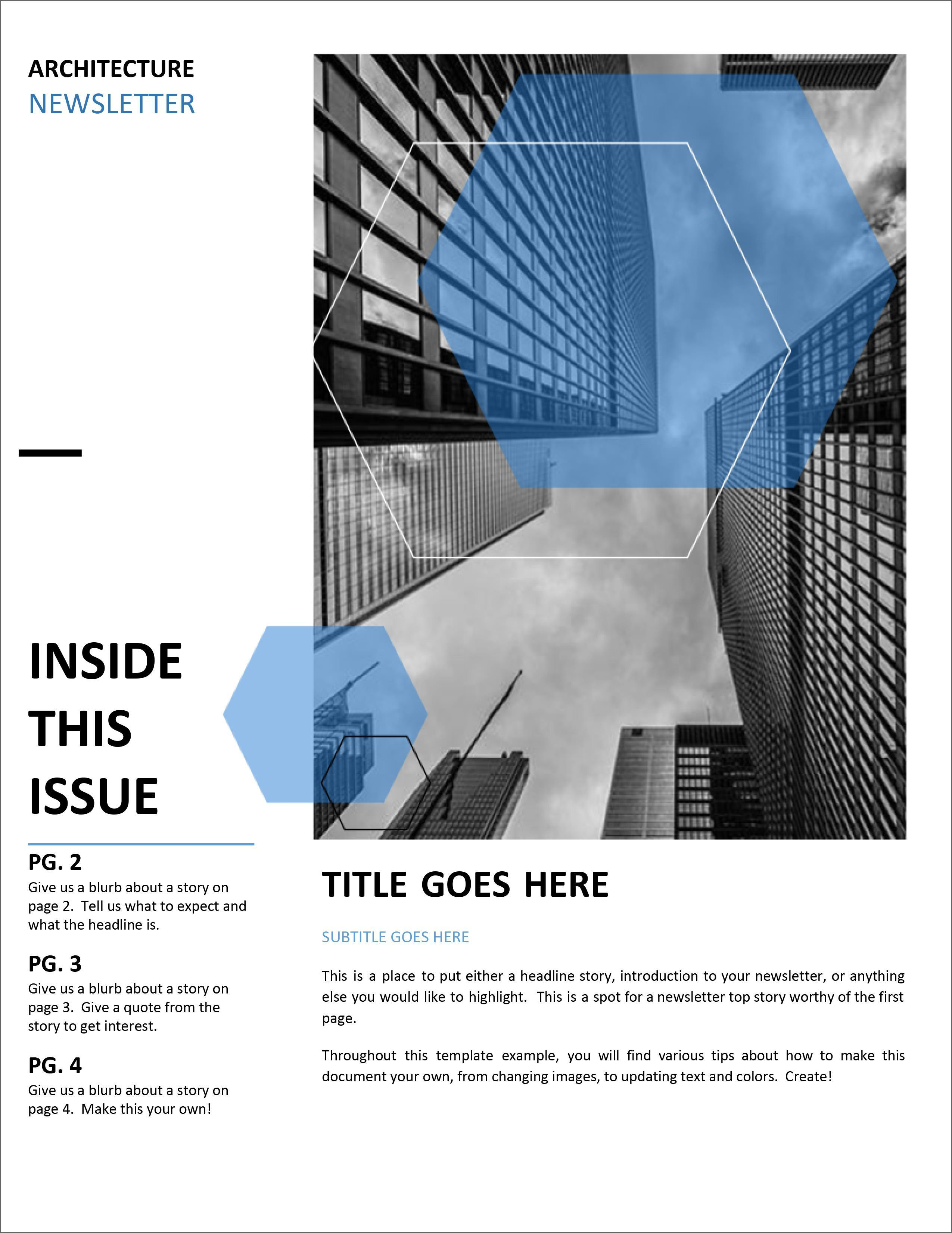 005 Shocking Word Newsletter Template Free Download Example  Document M 2007 DesignFull