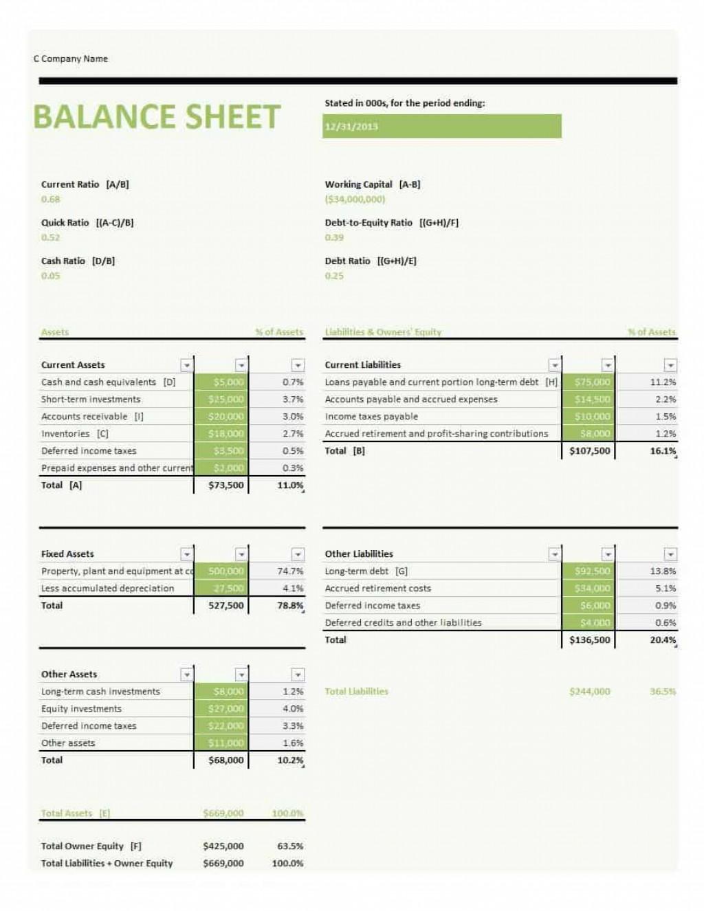 005 Simple Basic Balance Sheet Template Concept  Free For Self Employed Example UkLarge