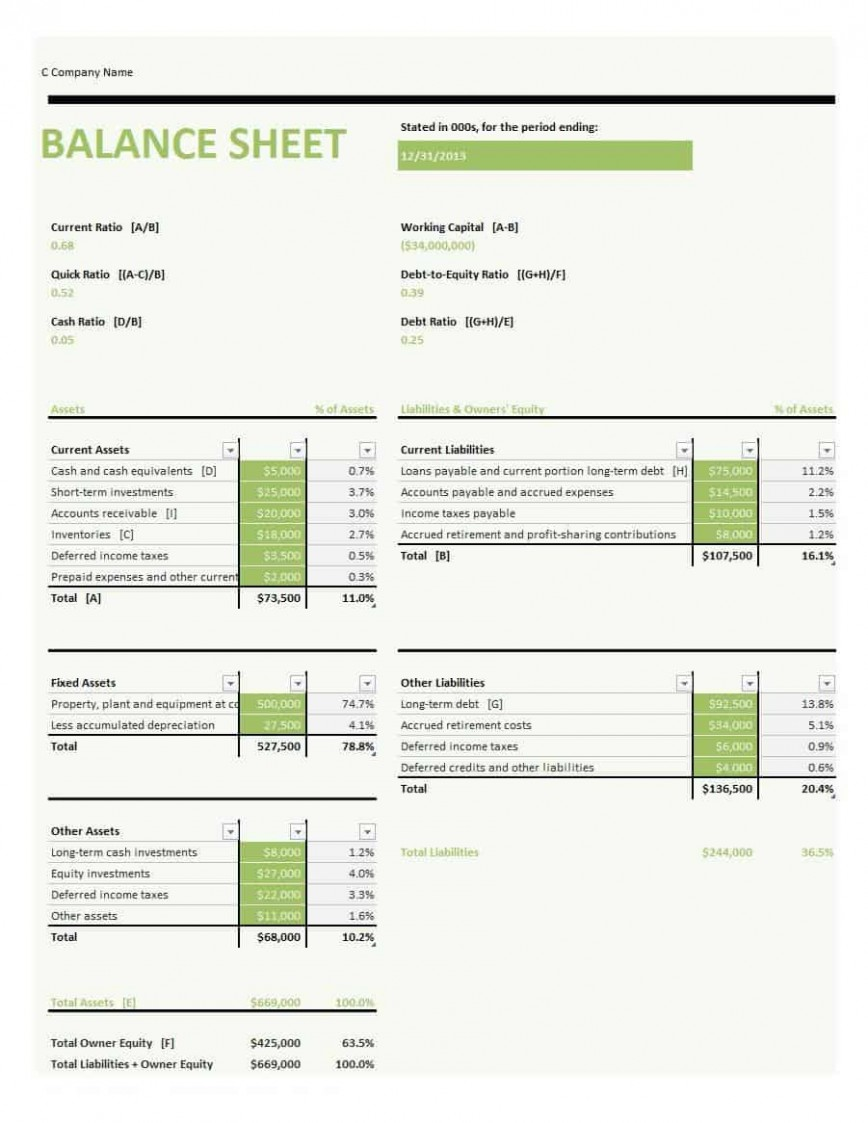005 Simple Basic Balance Sheet Template Concept  Free For Self Employed Example Uk868