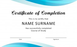 005 Simple Certificate Of Completion Template Free Inspiration  Training Download Word