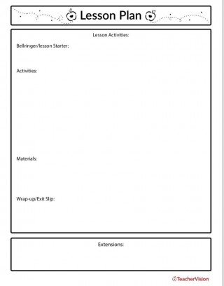005 Simple Editable Lesson Plan Template Elementary Idea 320