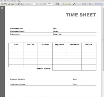 005 Simple Employee Time Card Printable Highest Clarity  Timesheet Template Excel Free Multiple Sheet360