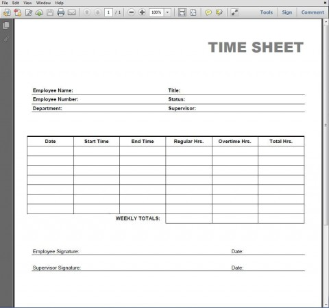 005 Simple Employee Time Card Printable Highest Clarity  Timesheet Template Excel Free Multiple Sheet480