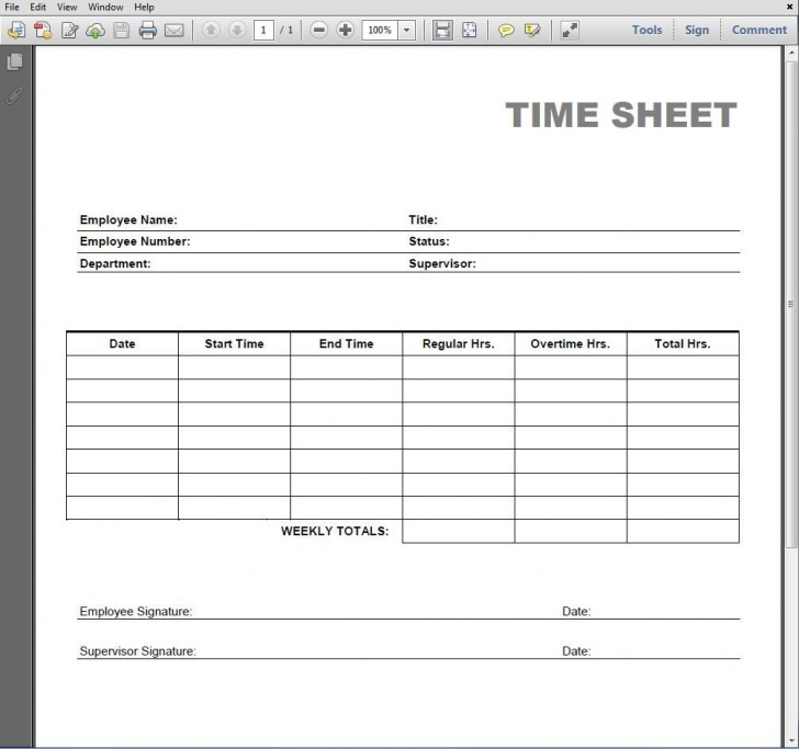 005 Simple Employee Time Card Printable Highest Clarity  Timesheet Template Excel Free Multiple Sheet728