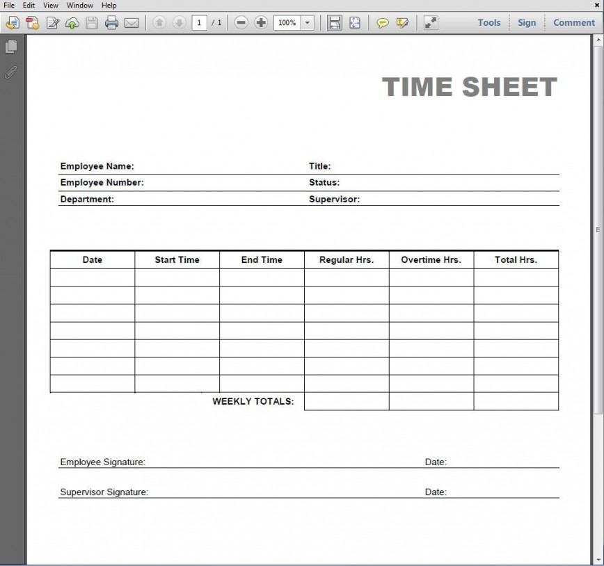 005 Simple Employee Time Card Printable Highest Clarity  Timesheet Template Excel Free Multiple Sheet868