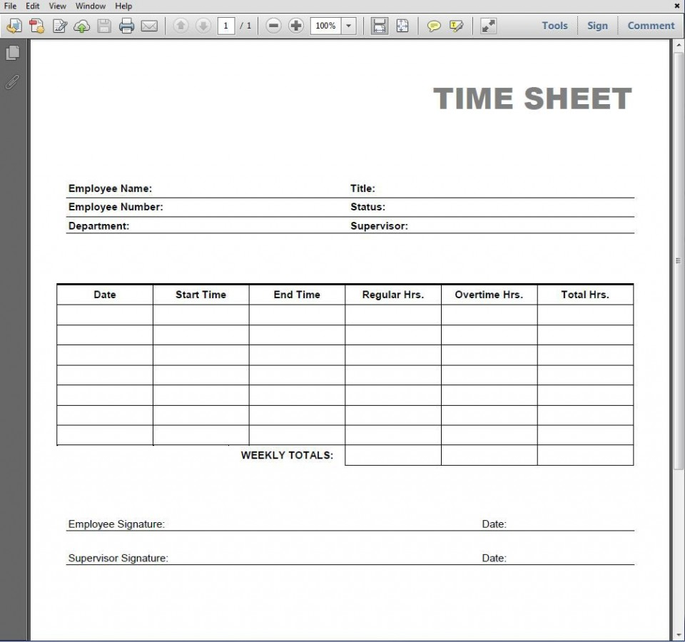 005 Simple Employee Time Card Printable Highest Clarity  Timesheet Template Excel Free Multiple Sheet960