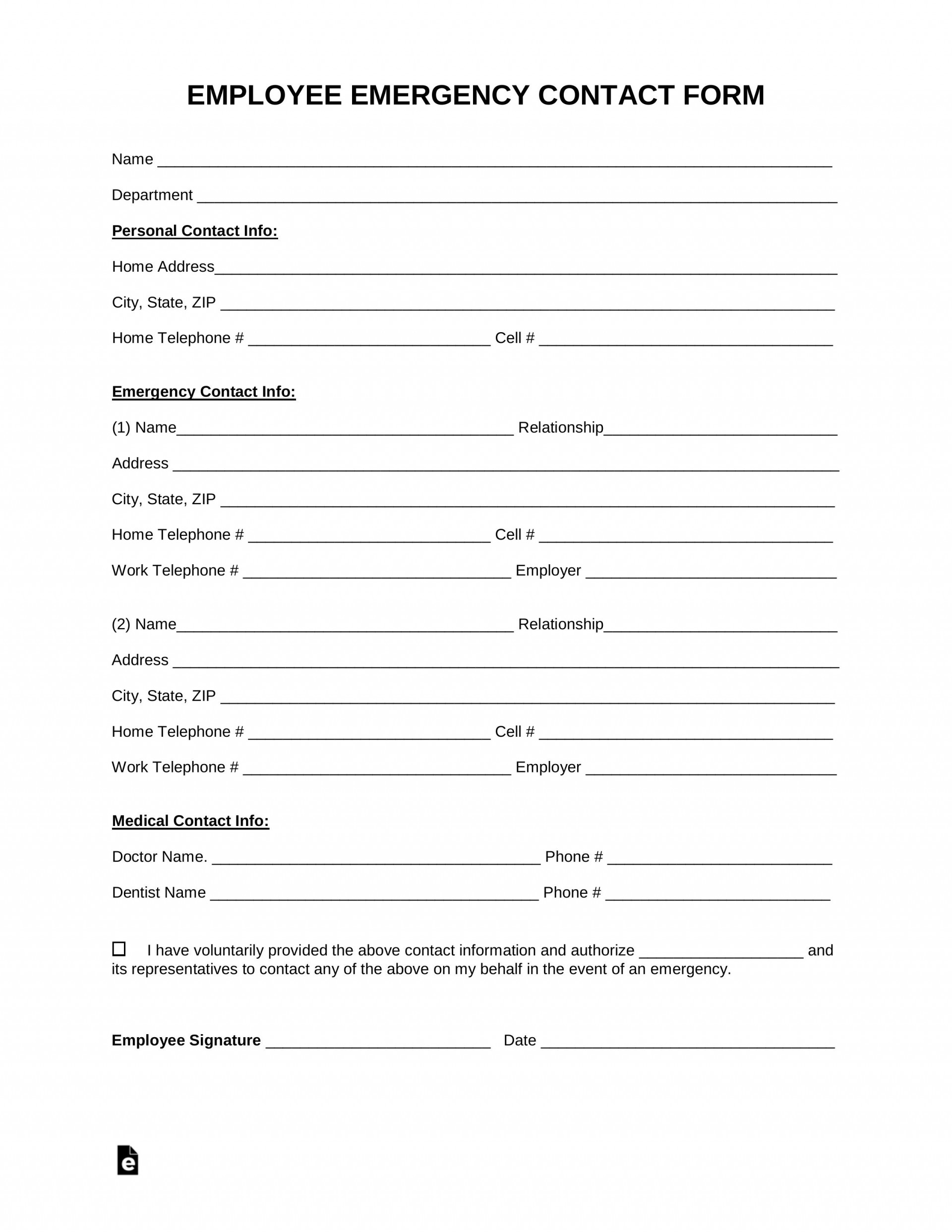 005 Simple Employment Information Form Template Sample  Employee Registration Free Download Application Malaysia Word1920