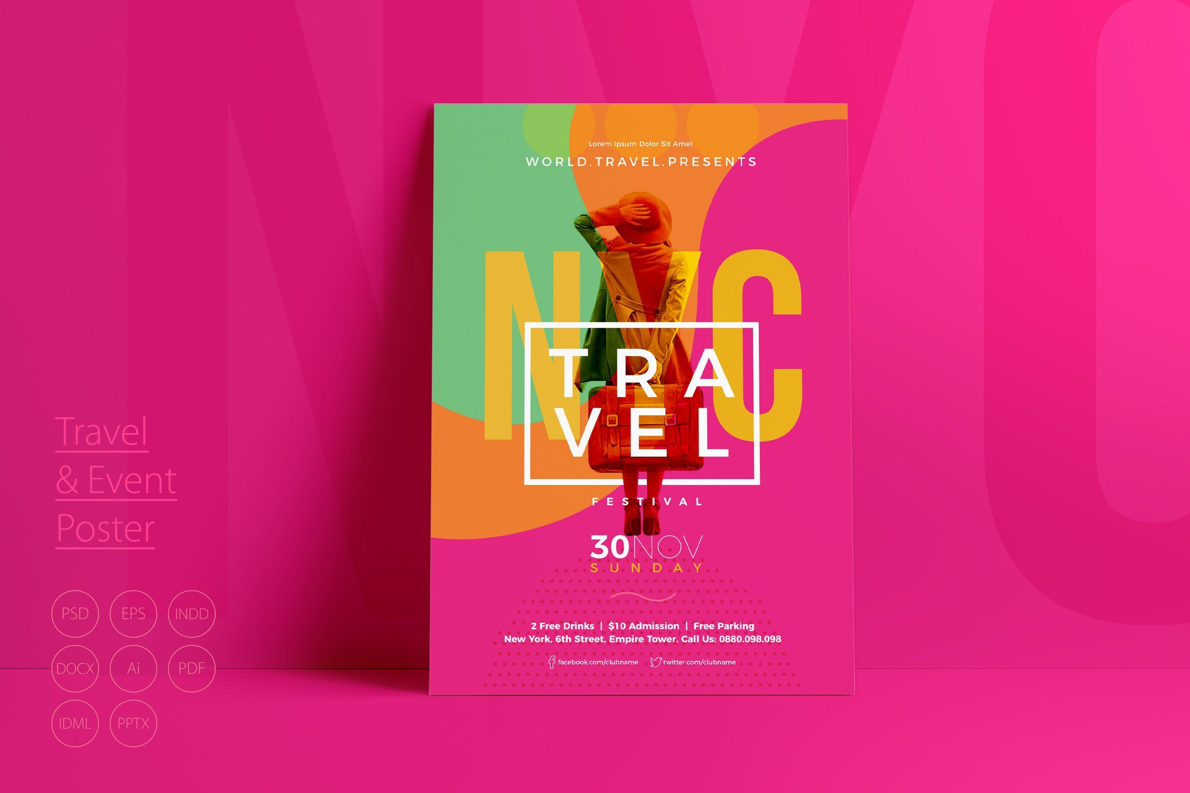 005 Simple Event Flyer Template Free Word Picture Full