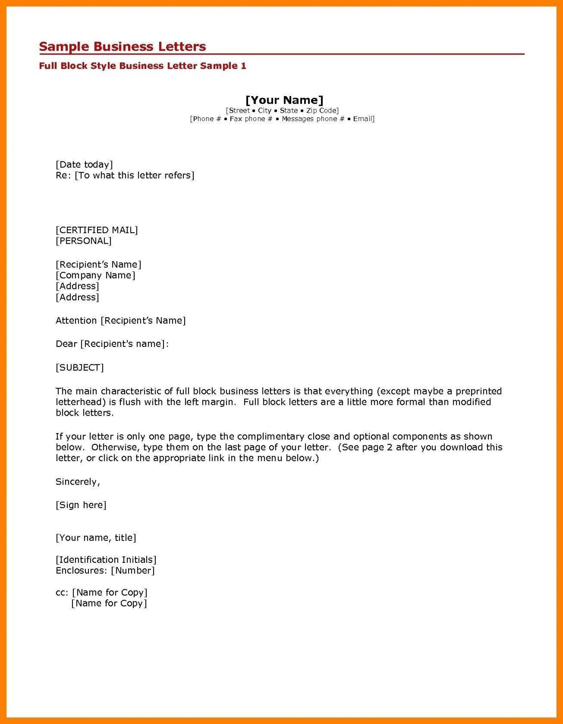 005 Simple Formal Busines Letter Template High Definition  Pdf Australia Format1920