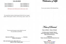 005 Simple Free Celebration Of Life Program Template Download Design