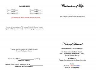 005 Simple Free Celebration Of Life Program Template Download Design 320