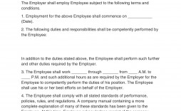 005 Simple Free Employment Contract Template Example  Templates Bc Temporary South Africa Ireland