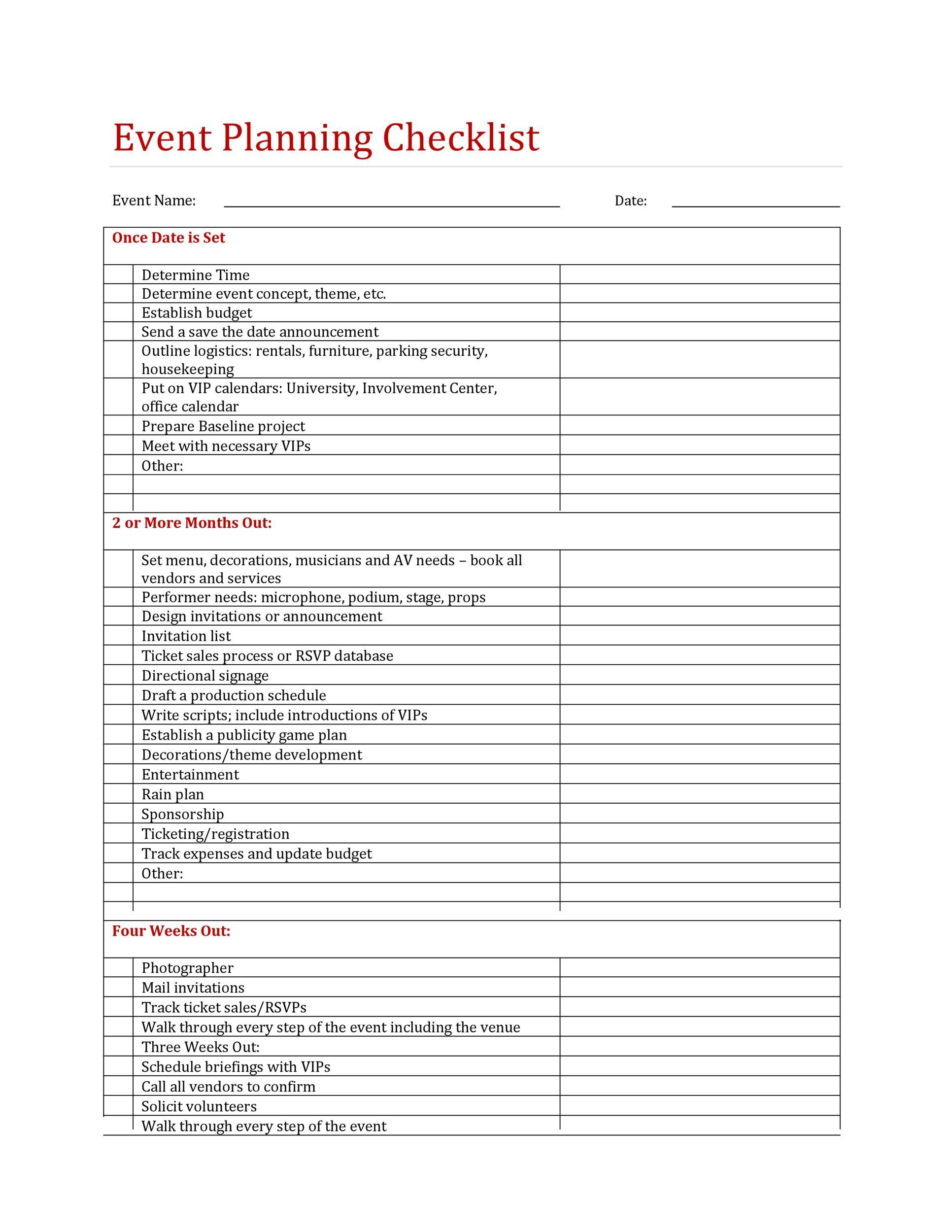 005 Simple Free Event Planning Template Checklist High Def  Planner PartyFull