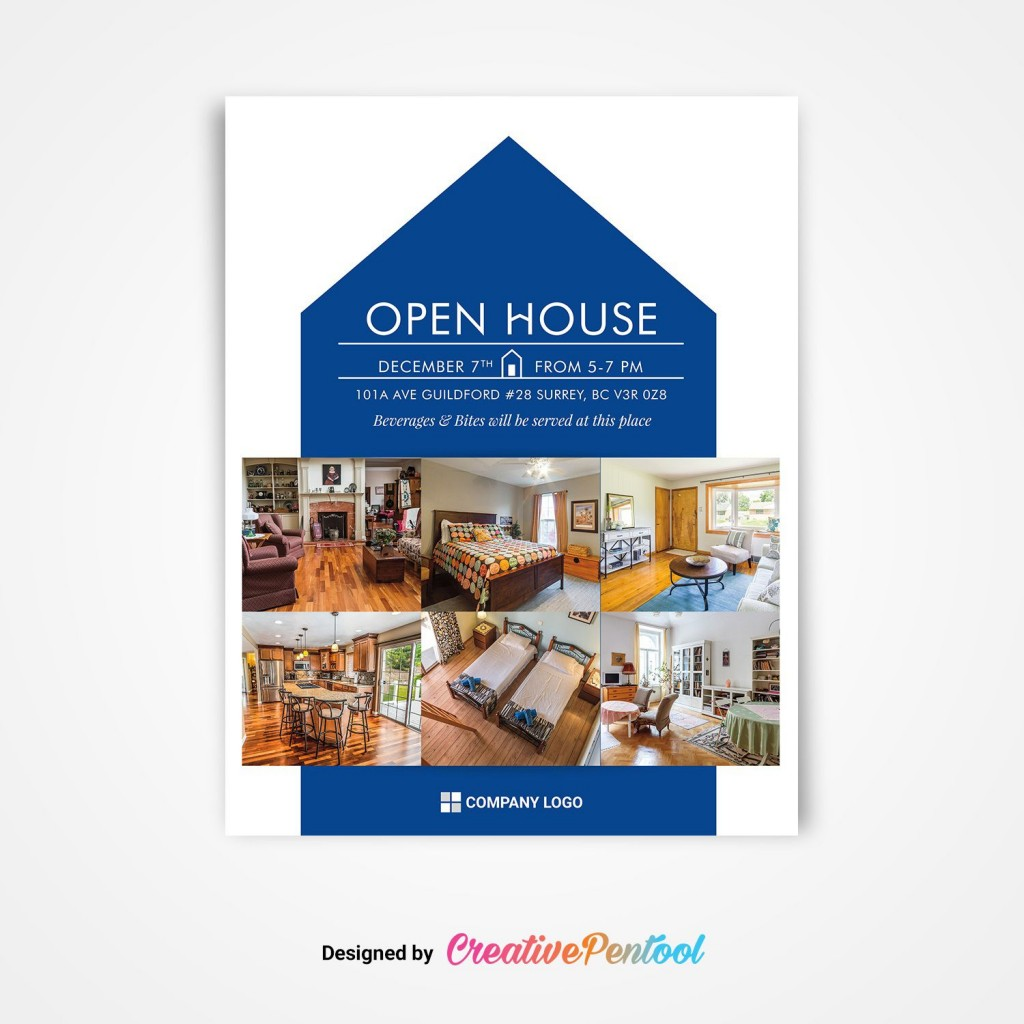 005 Simple Free Open House Flyer Template High Def  Microsoft WordLarge