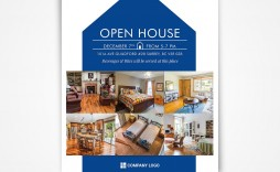 005 Simple Free Open House Flyer Template High Def  Microsoft Word