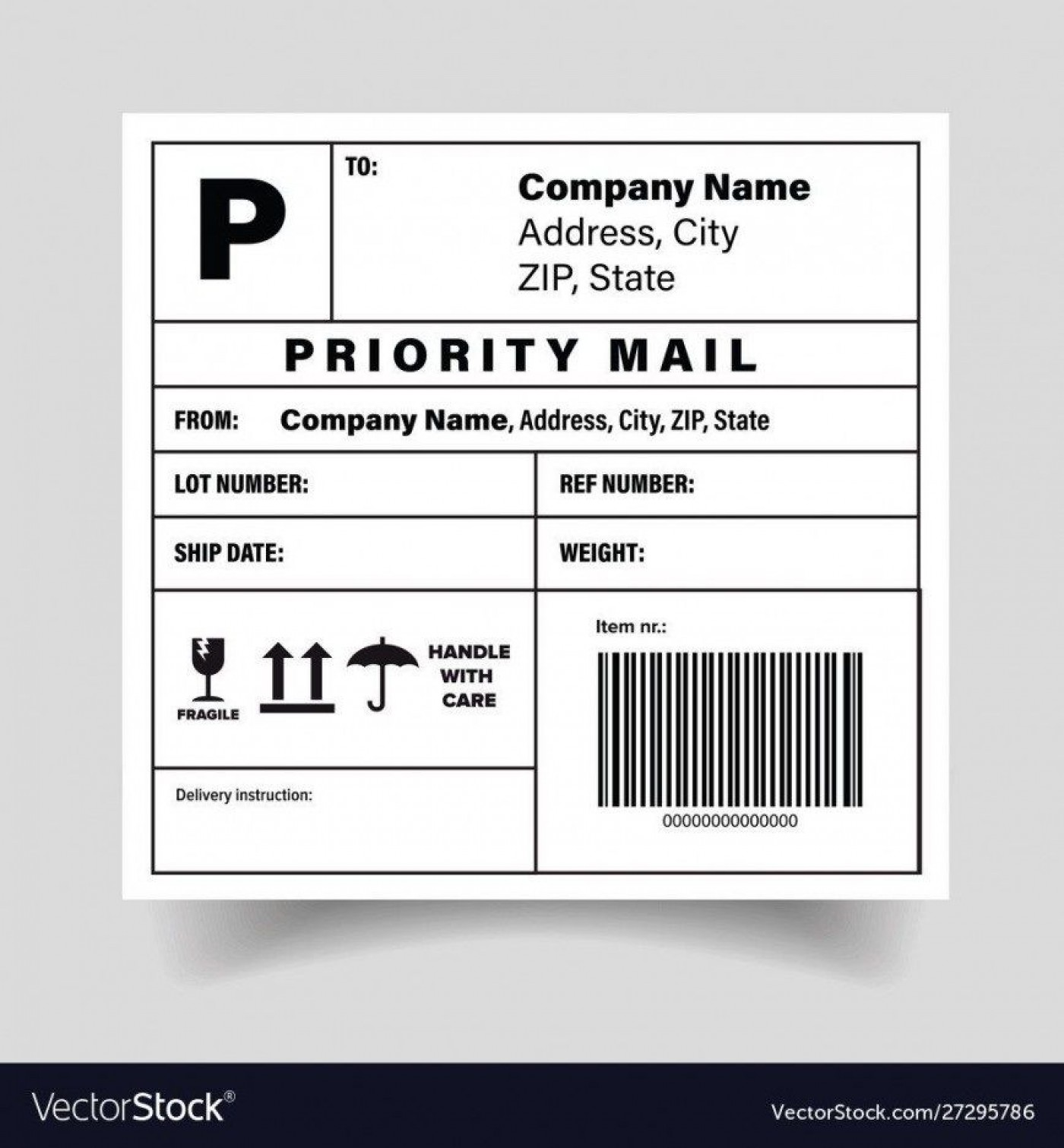 005 Simple Free Shipping Label Template Printable High Def  Online1400