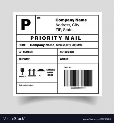 005 Simple Free Shipping Label Template Printable High Def  Online480