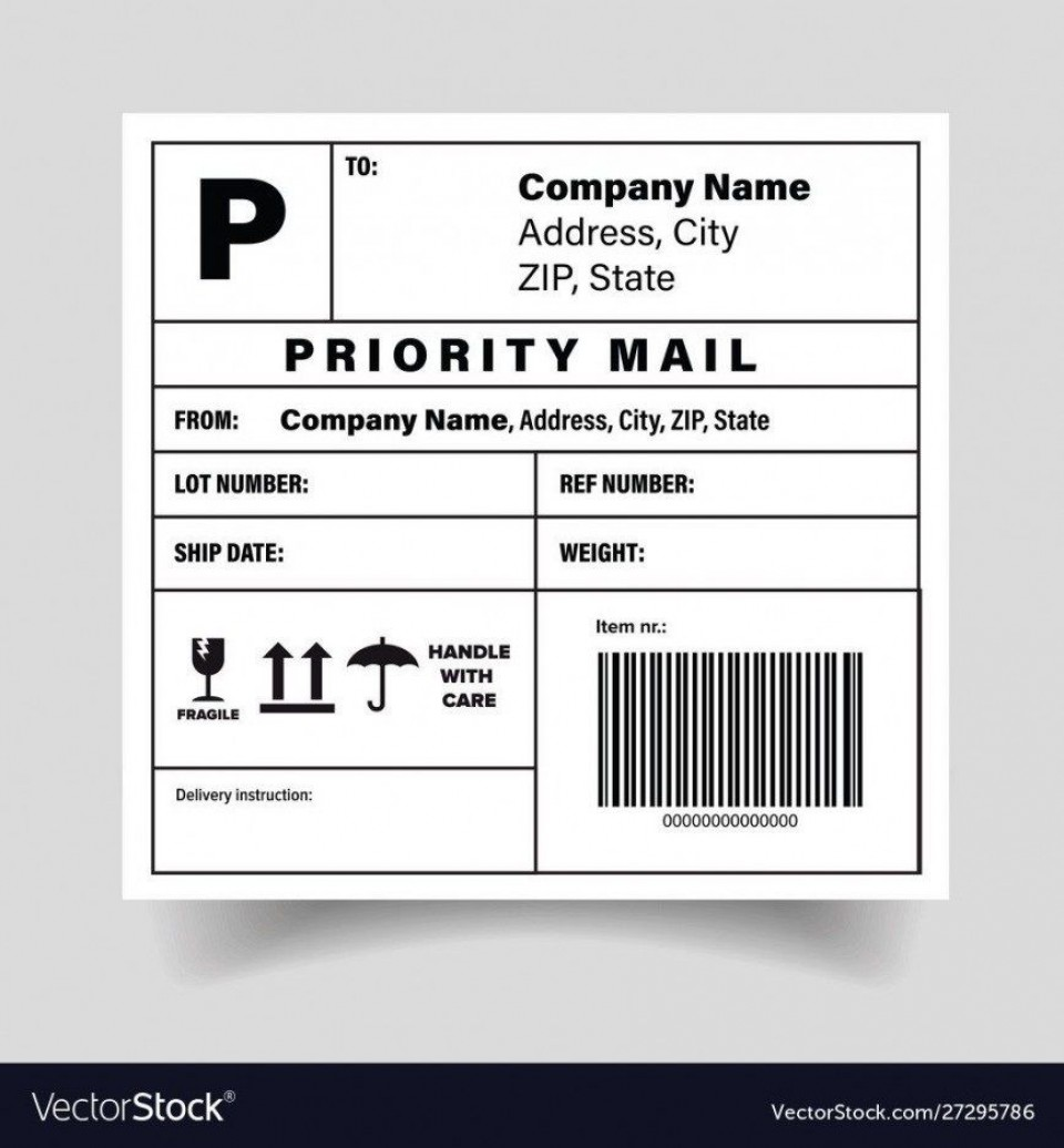 005 Simple Free Shipping Label Template Printable High Def  Online960