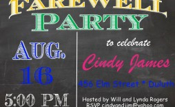 005 Simple Going Away Party Invitation Template Highest Clarity  Free Printable