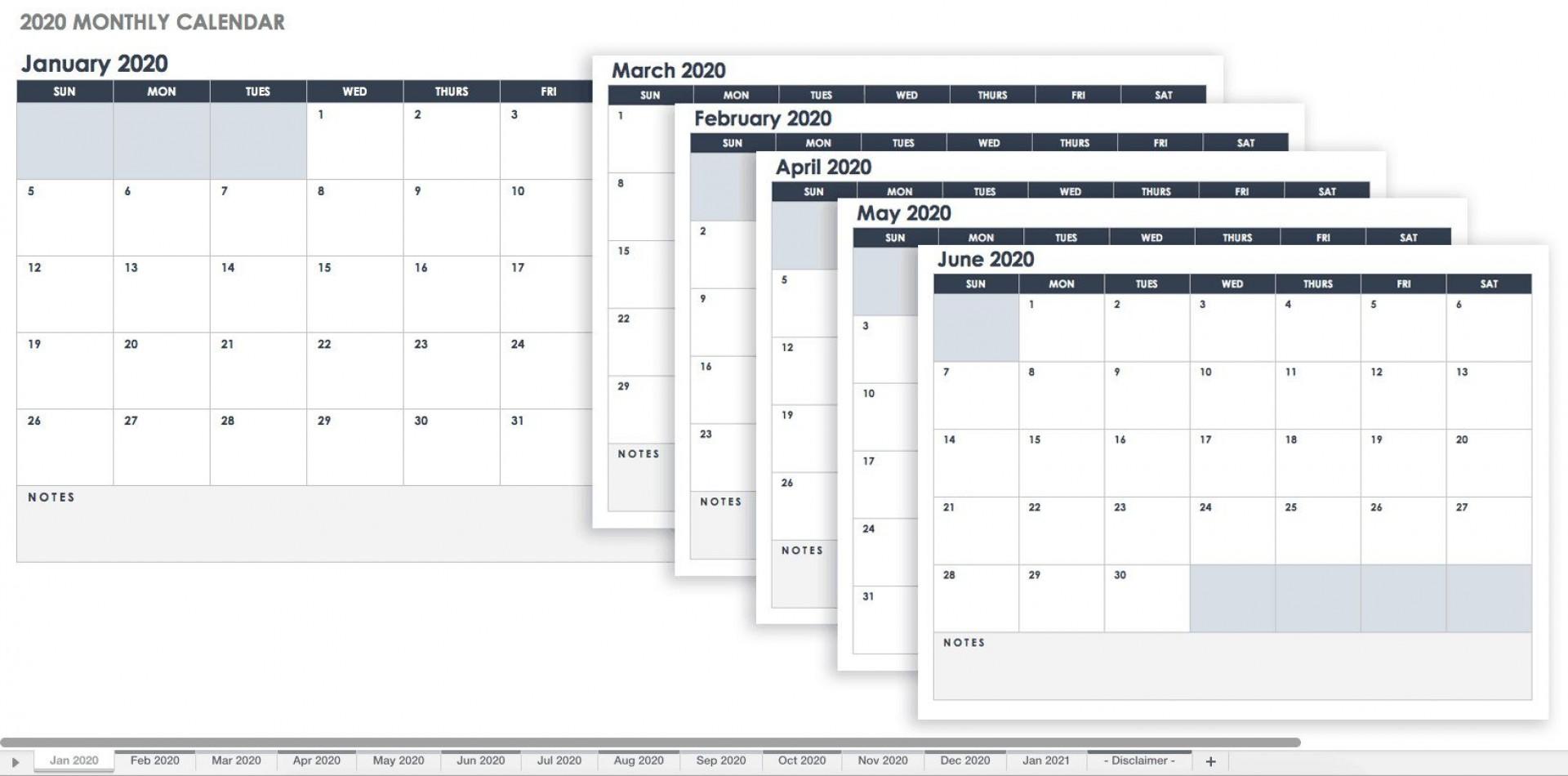 005 Simple Google Sheet Calendar Template Photo  Templates Monthly Spreadsheet 2020 20181920