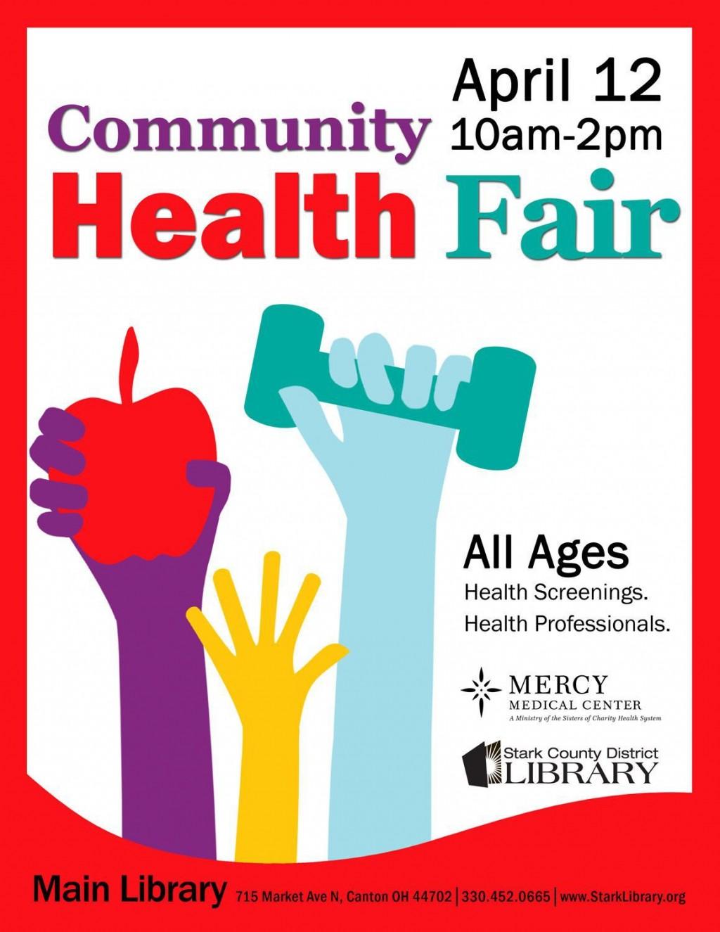 005 Simple Health Fair Flyer Template Free Idea  DownloadLarge
