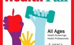 005 Simple Health Fair Flyer Template Free Idea  Download