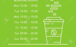 005 Simple Hour Of Operation Template Idea  Restaurant Email