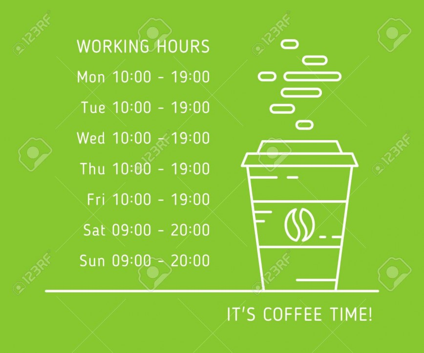 005 Simple Hour Of Operation Template Idea  Holiday Free Busines