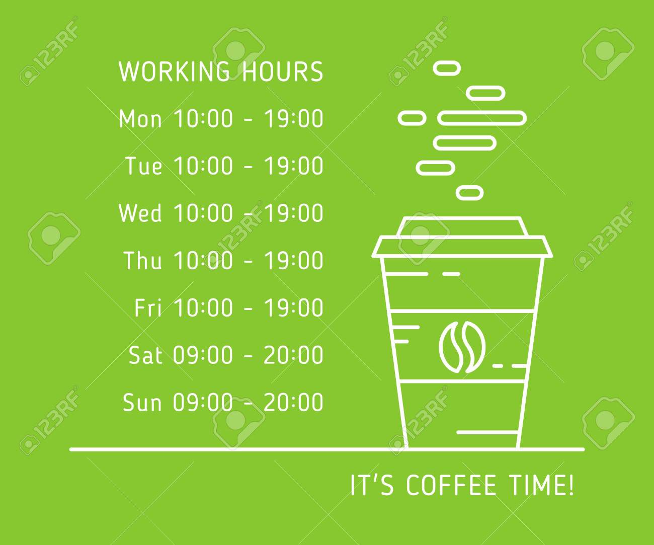 005 Simple Hour Of Operation Template Idea  Restaurant EmailFull