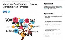 005 Simple Marketing Busines Plan Template Free Example  For Company Digital