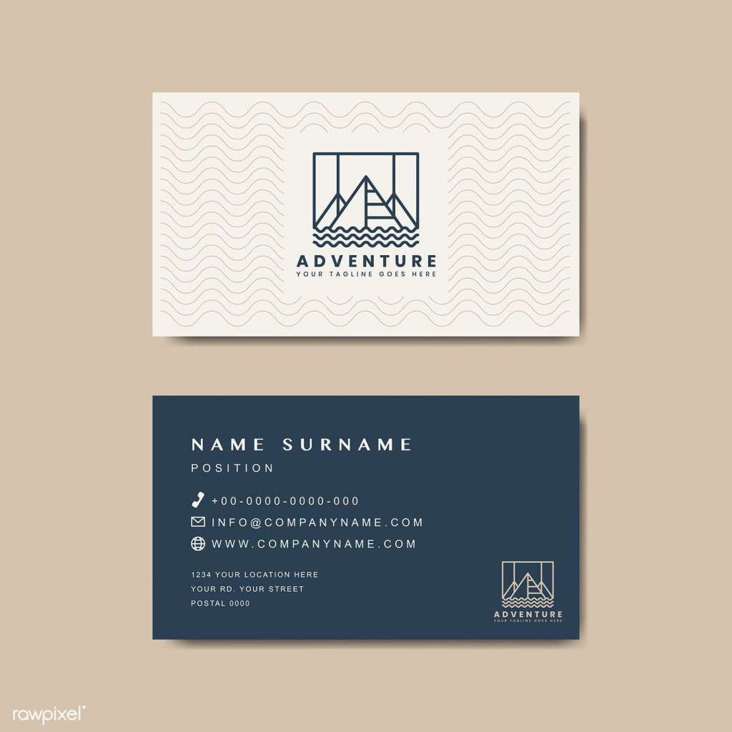 005 Simple Minimal Busines Card Template Free Download Picture  Design CoreldrawLarge