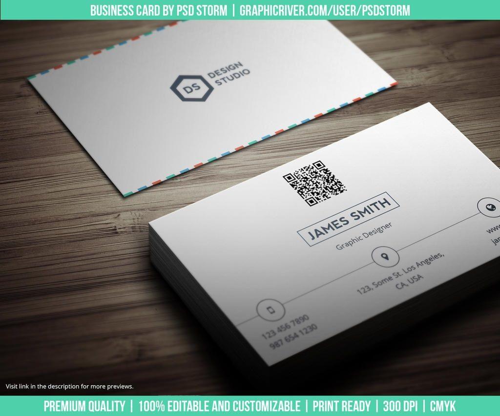 005 Simple Minimalist Busines Card Template Psd High Resolution Large