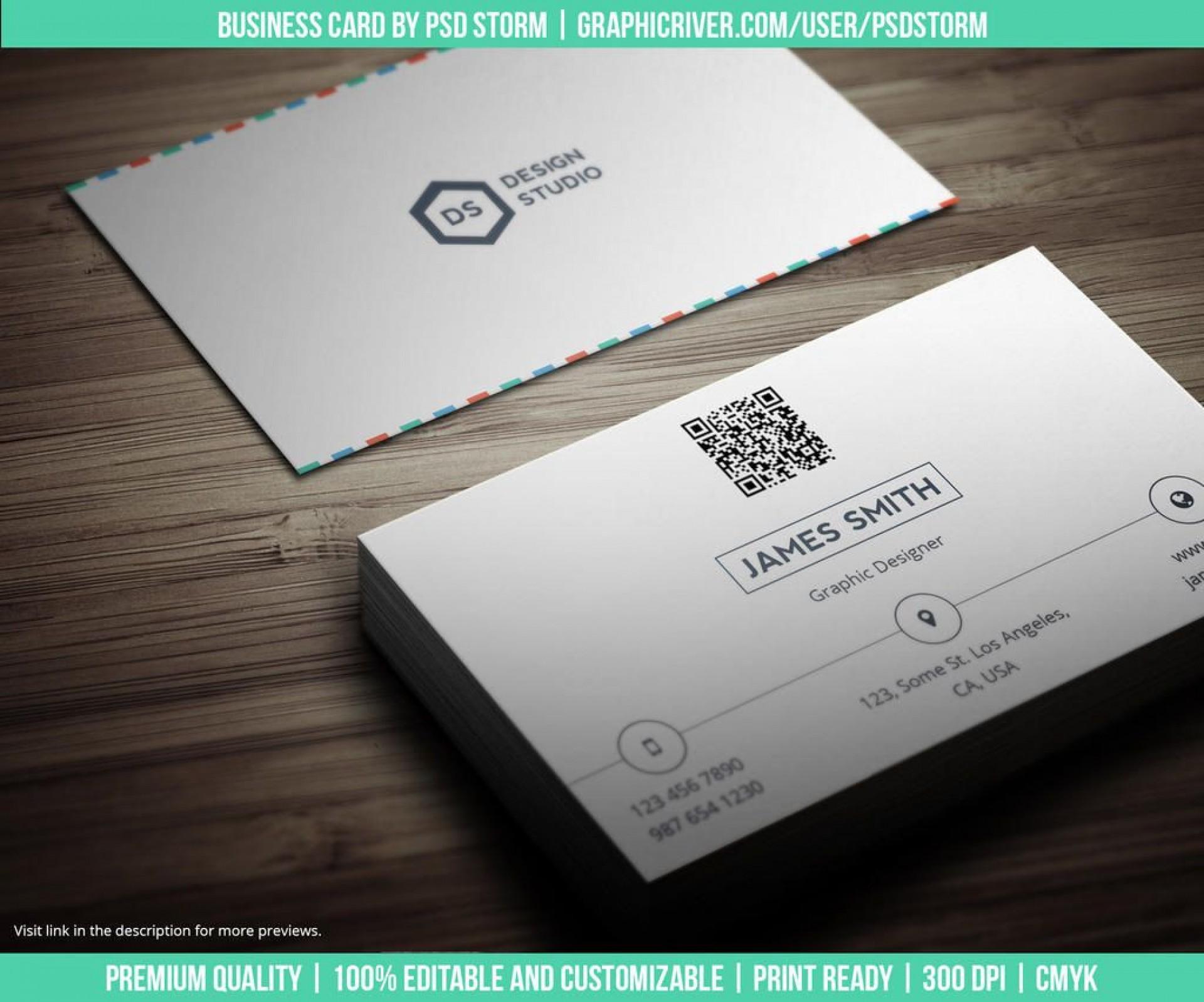 005 Simple Minimalist Busines Card Template Psd High Resolution 1920
