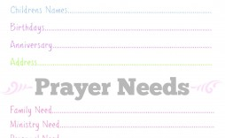 005 Simple Missionary Prayer Card Template Photo  Free
