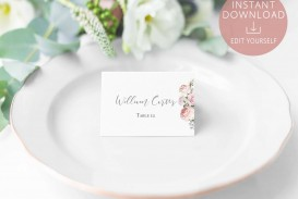 005 Simple Name Place Card Template High Def  Free Word Publisher Wedding