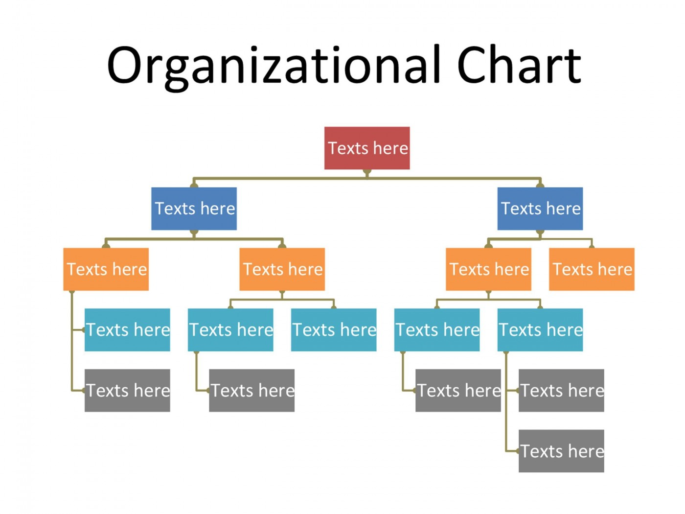 005 Simple Organizational Chart Template Word Design  2013 2010 20071400