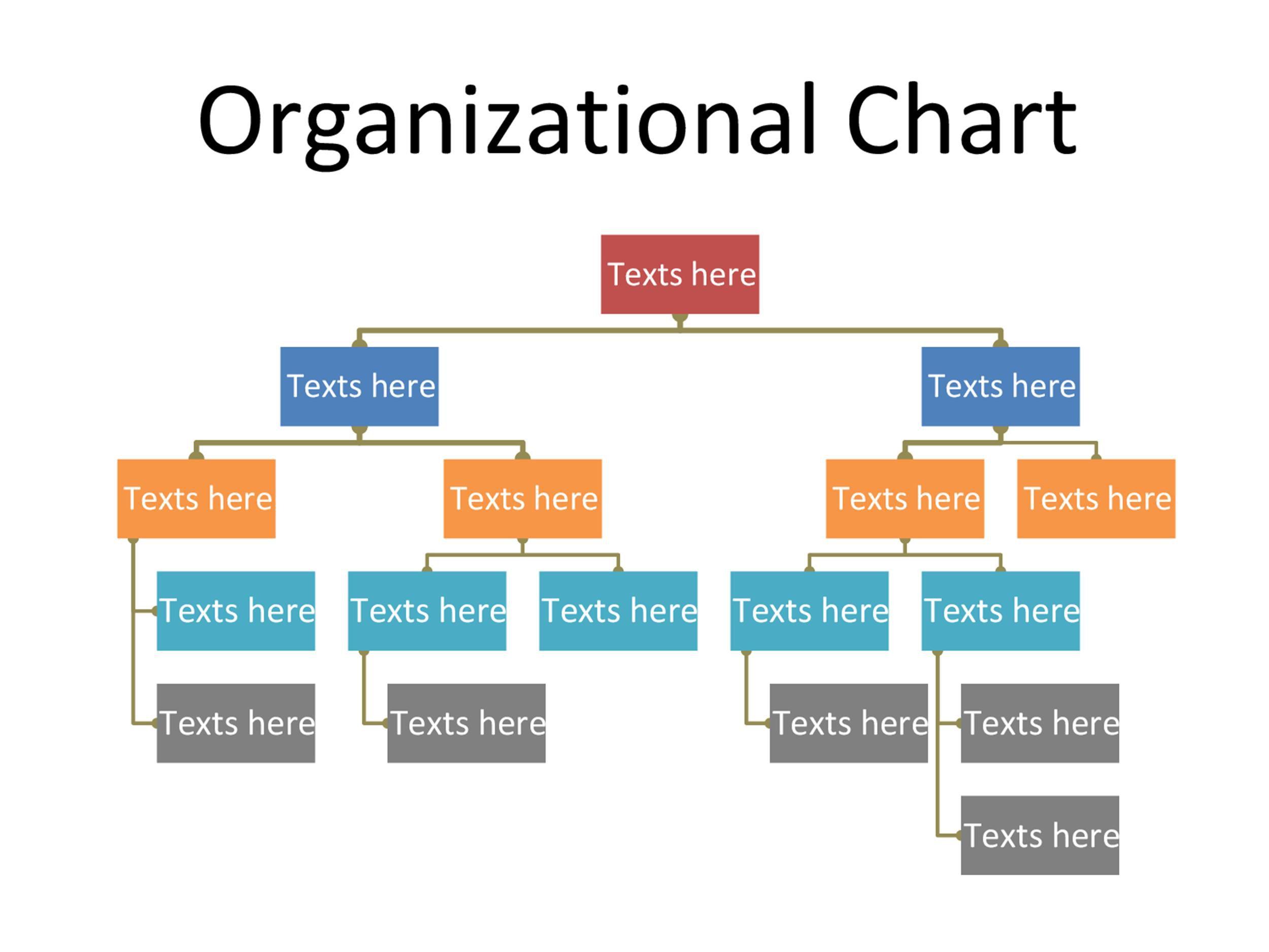 005 Simple Organizational Chart Template Word Design  2013 2010 2007Full