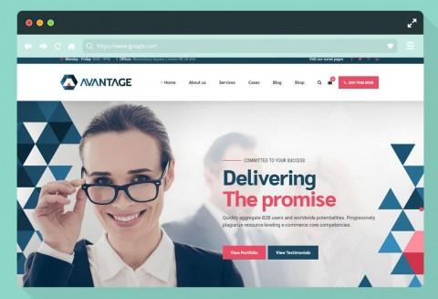 005 Simple Professional Busines Website Template Free Download Wordpres Sample 480