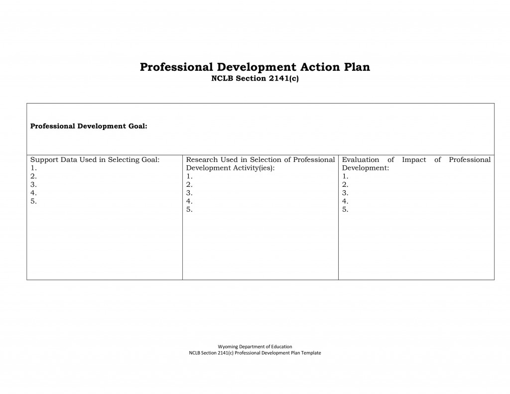 005 Simple Professional Development Plan Template Inspiration  Example For Manager ExcelLarge