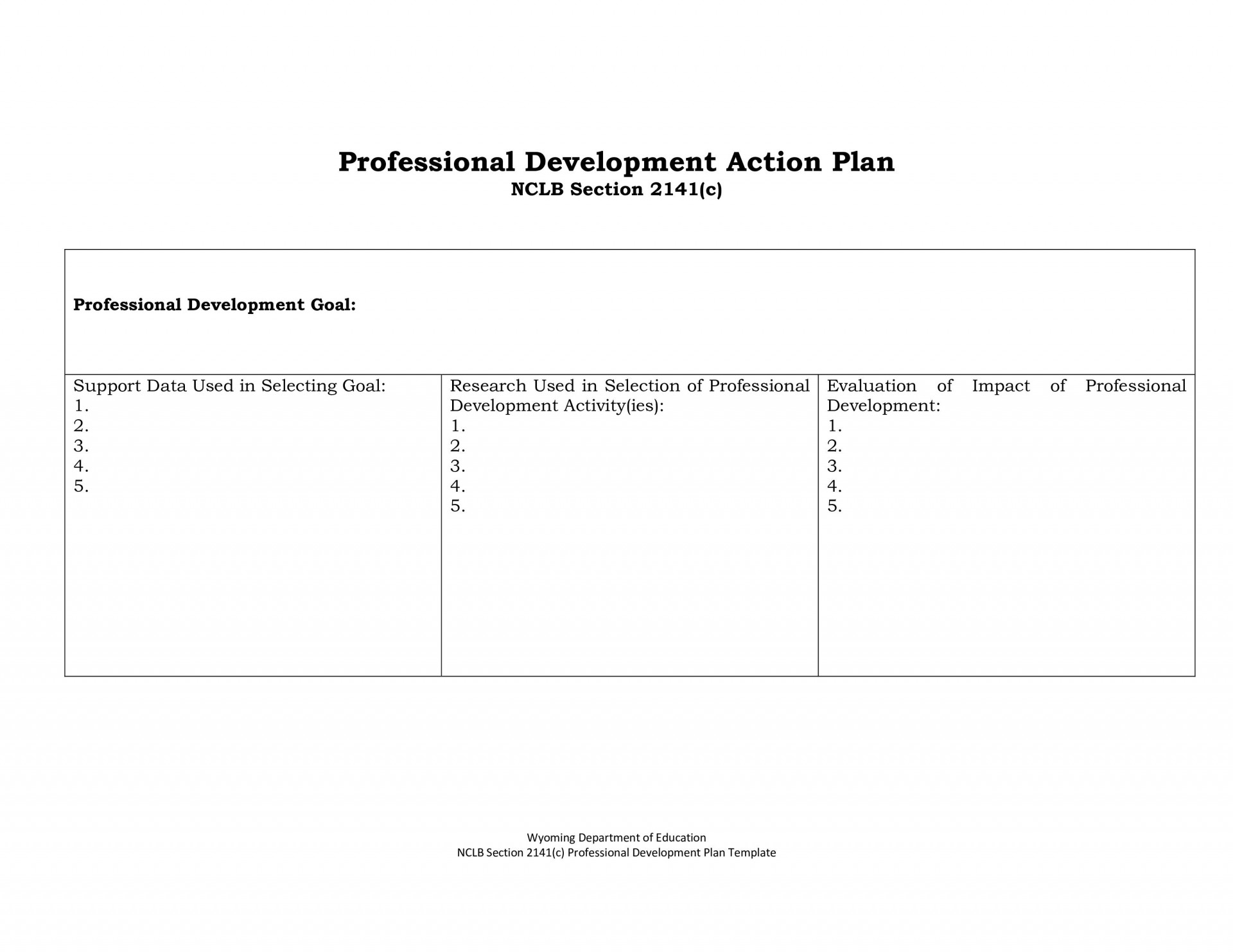 005 Simple Professional Development Plan Template Inspiration  Example For Manager Excel1920
